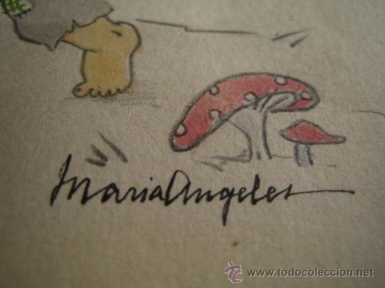 Arte: CINCO ACUARELAS INFANTILES FIRMADO MARIAANGELES, ORIGINALES, AÑOS 50-60 - Foto 16 - 32830938
