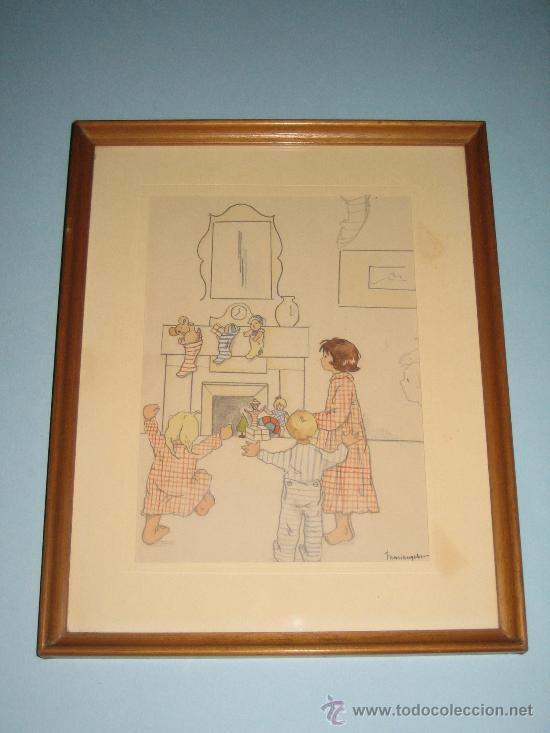 Arte: CINCO ACUARELAS INFANTILES FIRMADO MARIAANGELES, ORIGINALES, AÑOS 50-60 - Foto 17 - 32830938