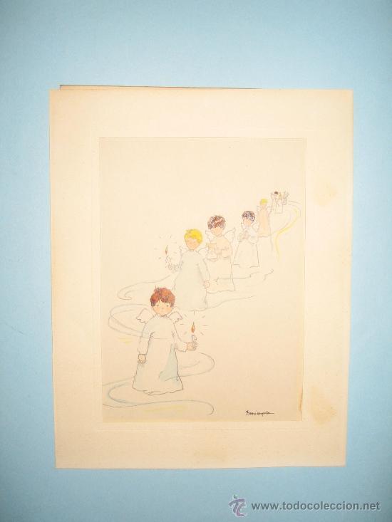 Arte: CINCO ACUARELAS INFANTILES FIRMADO MARIAANGELES, ORIGINALES, AÑOS 50-60 - Foto 21 - 32830938
