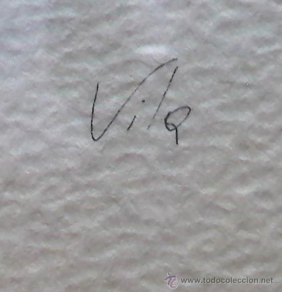 Arte: Acuarela firmada Vila, año 1979, probablemente pintor de Sabadell - Foto 2 - 33130279