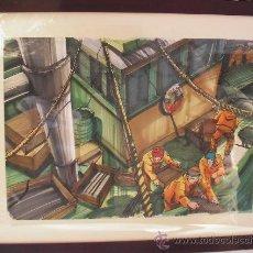 """Arte: """"PESCADORES"""". ACUARELA Y TINTA. Lote 33256976"""