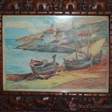 Arte: PAREJA DE ACUARELAS ANTIGUAS . Lote 33660801