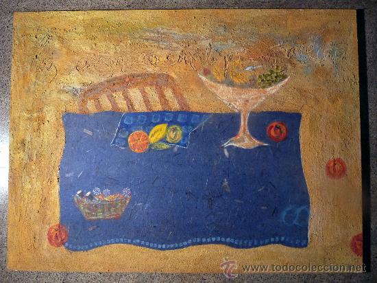 TÉCNICA MIXTA SOBRE TABLA DE LA PINTORA PAZ SAGUE BATLLÓ.LAS COSAS NO SON LO QUE PARECEN. (Arte - Acuarelas - Modernas siglo XIX)