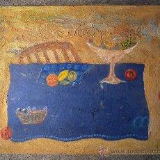 Arte: TÉCNICA MIXTA SOBRE TABLA DE LA PINTORA PAZ SAGUE BATLLÓ.LAS COSAS NO SON LO QUE PARECEN.. Lote 33791744
