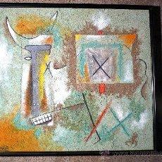 Arte: GRAN CUADRO ABSTRACTO.FIRMADO ALARCÓN 92. TÉCNICA MIXTA SOBRE TABLA. Lote 33812309
