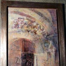 Arte: ÓLEO Y TÉCNICA MIXTA SOBRE TELA.BLANCA PRIETO(VILLARRAMIEL 1934)CATEDRAL PETARANZAS.. Lote 33813128