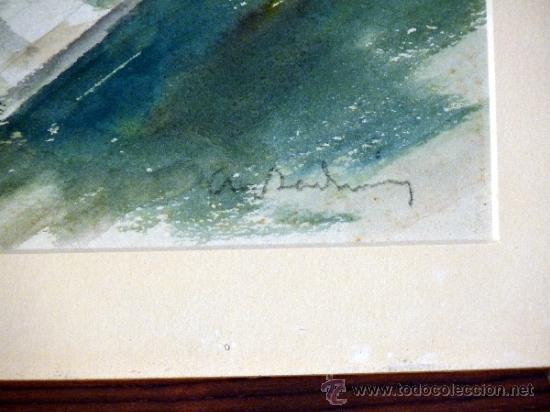 Arte: acuarela sobre papel.Antoni Badrinas Escudé. (Terrassa 1882-Barcelona 1969) - Foto 4 - 33909942