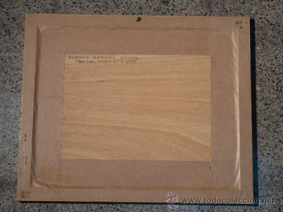 Arte: acuarela sobre papel.Antoni Badrinas Escudé. (Terrassa 1882-Barcelona 1969) - Foto 5 - 33909942