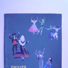 Art: DIBUJO ORIGINAL EN ACUARELA PARA PUBLICIDAD DE PHILIPS, CON TIPOS REGIONALES ESPAÑOLES. Lote 34012561