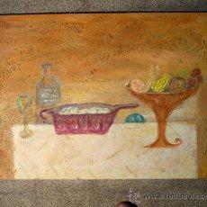 Arte: TÉNICA MIXTA SOBRE TABLA DE LA PINTORA CATALANA PAZ SAGUE BATLLÓ.CON DEDICACIÓN EN LA PARTE DE ATRÁS. Lote 34255026