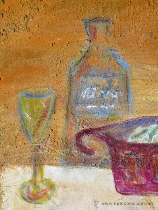 Arte: Ténica mixta sobre tabla de la pintora catalana Paz Sague Batlló.Con dedicación en la parte de atrás - Foto 2 - 34255026