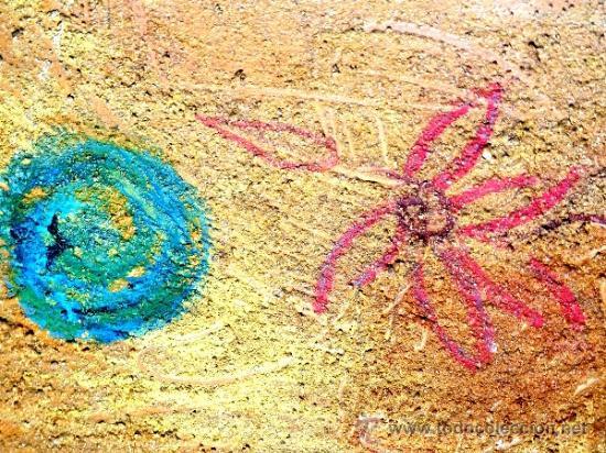 Arte: Ténica mixta sobre tabla de la pintora catalana Paz Sague Batlló.Con dedicación en la parte de atrás - Foto 3 - 34255026