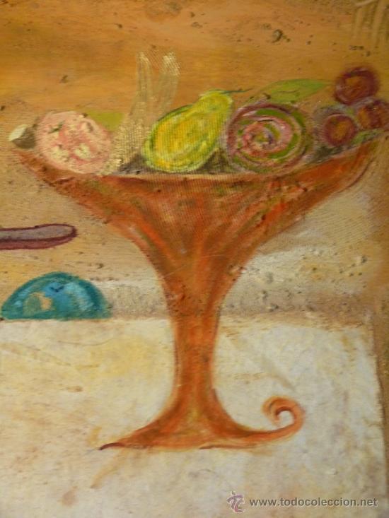 Arte: Ténica mixta sobre tabla de la pintora catalana Paz Sague Batlló.Con dedicación en la parte de atrás - Foto 4 - 34255026