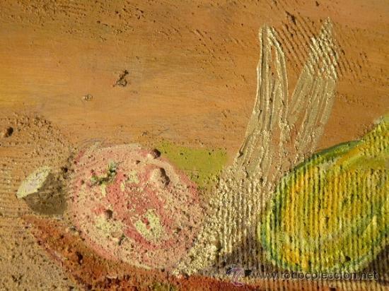 Arte: Ténica mixta sobre tabla de la pintora catalana Paz Sague Batlló.Con dedicación en la parte de atrás - Foto 5 - 34255026