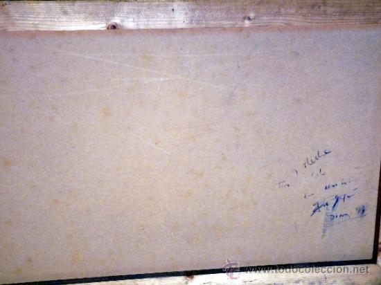 Arte: Ténica mixta sobre tabla de la pintora catalana Paz Sague Batlló.Con dedicación en la parte de atrás - Foto 7 - 34255026