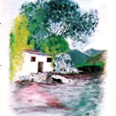 Arte: J, CRUZ.- (MALAGUEÑO) - PAISAJE - ACUARELA SOBRE PAPEL. FIRMADO ANGULO INF. ENMARCADO.46 X 33 CMS. Lote 34313577