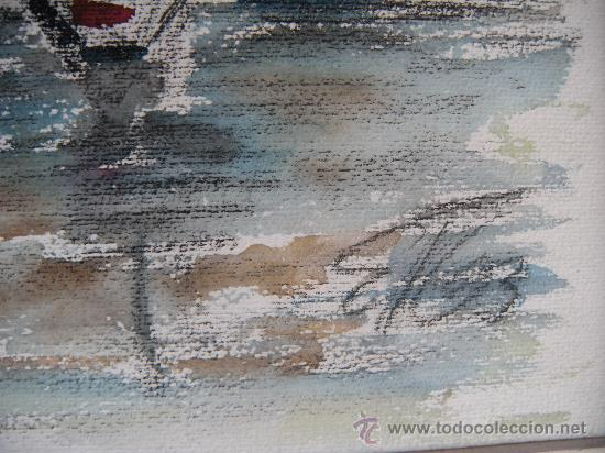 Arte: BONITA MARINA, ACUARELA Y PASTEL. FIRMADO - Foto 2 - 34362074