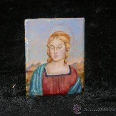 Arte: PLACA ESMALTADA DE ESCUELA ITALIANA, MADONNA. PRINCIPIOS S.XX. FIRMADO P. SIRA.. Lote 34473723