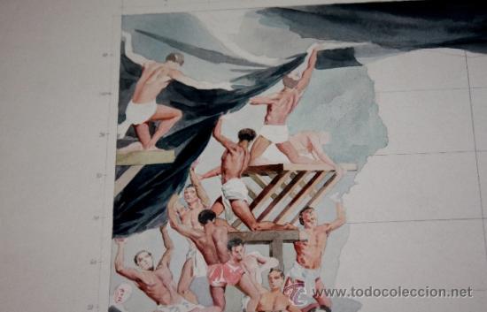 Arte: ACUARELA DE CARLOS SAENZ DE TEJADA-MAPA DE ANDALUCIA INNACABADO - Foto 5 - 34422962