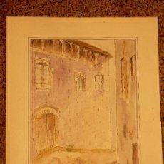 Arte: ACUARELA SOBRE CARTULINA.MARIA ARDERIU VILANOVA.. Lote 34518847