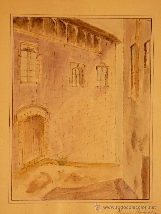 Arte: Acuarela sobre cartulina.Maria Arderiu Vilanova. - Foto 2 - 34518847