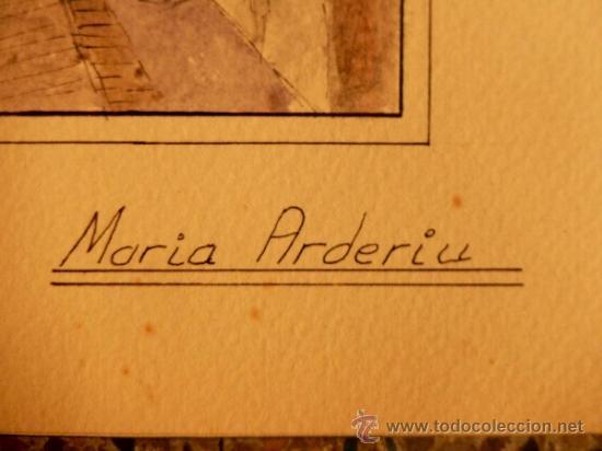 Arte: Acuarela sobre cartulina.Maria Arderiu Vilanova. - Foto 5 - 34518847