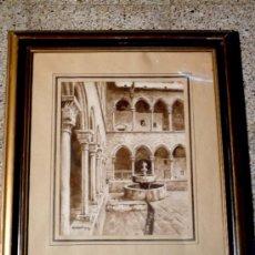 Arte: MARAVILLOSA ACUARELA SOBRE PAPEL.AGUSTÍ ANTIGA MONNER.(BARCELONA,1874-1942). Lote 34550800