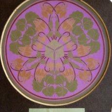 Arte: PRECIOSO DISEÑO ART NOVEAU, FIRMADO DAISY ROWLAND 1916, GRAN CALIDAD, VIBRANTES COLORES. Lote 34629468