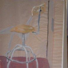 Arte: GOUACHE MEDIDAS 70X50 FIRMADO JORGE 94 DE UNA EXPOSICION SOBRE SILLAS. Lote 34600032
