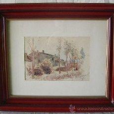 Arte: PEDRO BAQUET, ACUARELA DE 1908. Lote 34730074