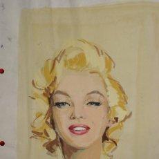 Arte: BONITA ACUARELA DE MARILYN MONROE.. Lote 34825754