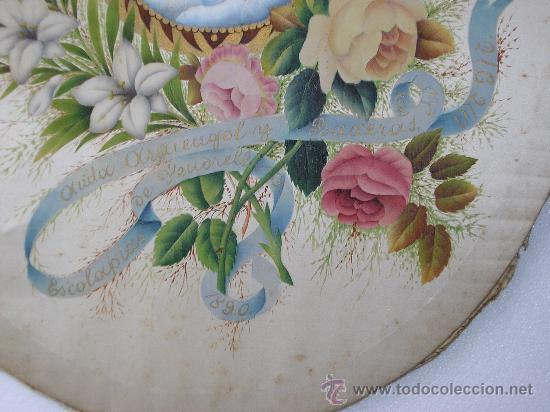 Arte: ANITA ARMENGOL Y BAXERAS MM ESCOLAPIAS DE VENDRELL 1890 - PINTADO SOBRE SEDA - Foto 5 - 34860794