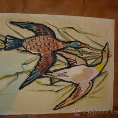 Arte: ACUARELA/ PASTEL - FIRMADA PAMIES - AVES. Lote 34974937
