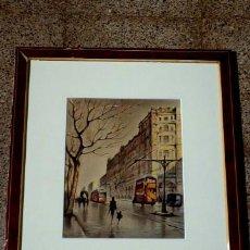 Arte: BONITO DIBUJO ACUARELADO CON FIRMA ILEGIBLE.GRAN CALIDAD.. Lote 34985812
