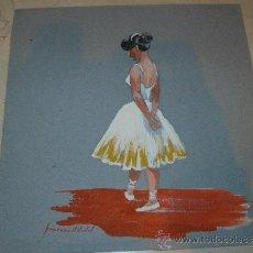 Arte: PASTEL /CLARION - FIRMADO FRANCESC V VIDAL - BAILARINA. Lote 35012468