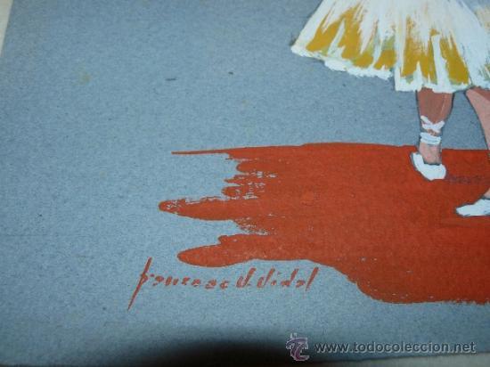 Arte: PASTEL /CLARION - FIRMADO FRANCESC V VIDAL - BAILARINA - Foto 4 - 35012468