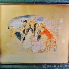 Arte: PERSONAJES EN CARNAVAL. ACUARELA/PAPEL. JOSÉ LUÍS FLORIT RODERO.. Lote 35020389