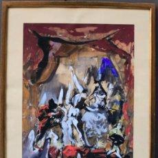 Arte: JOSÉ MIGUEL SERRANO (BARCELONA, 1912-1982). BAILARINAS. ACUARELA 58X46 CM. MARCO:49X61CM. Lote 35170511