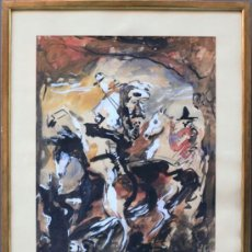 Arte: JOSÉ MIGUEL SERRANO (BARCELONA, 1912-1982). BAILARINAS. ACUARELA 58X46 CM. MARCO:49X61CM. Lote 35170548