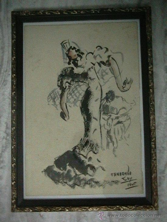 Arte: acualera bailarina flamenco - Foto 6 - 35359152