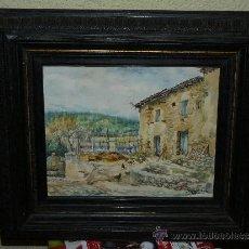 Arte: ACUARELA - FIRMADA A DOMENECH - PAISAJE RURAL.. Lote 35377785
