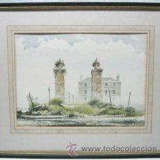 Arte: BELLA PINTURA ACUARELA MICHAEL J. TAYLOR - EDIFICIO. Lote 35497659