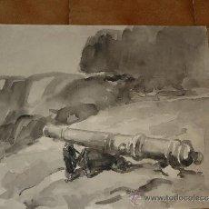 Arte: AGUADA - FIRMADA MIRALLES - SAN LLORENÇ DE MORUNYS - CAÑÓN HISTÓRICO. Lote 35499816