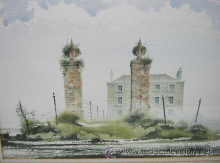Arte: Bella pintura acuarela Michael J. Taylor - Edificio - Foto 2 - 35497659