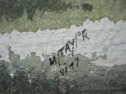 Arte: Bella pintura acuarela Michael J. Taylor - Edificio - Foto 7 - 35497659