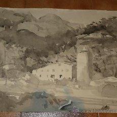 Arte: AGUADA - FIRMADA MIRALLES - CASTELLDEFELS - 1969. Lote 35518614