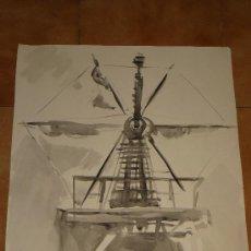 Arte: AGUADA - FIRMADA MIRALLES - MOLINO - 1968. Lote 35519604