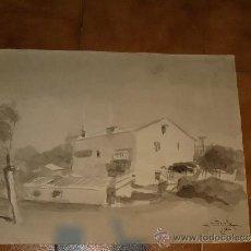 Arte: AGUADA - FIRMADA MIRALLES - SITGES, CASA - 1967. Lote 35519758