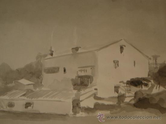 Arte: AGUADA - FIRMADA MIRALLES - SITGES, CASA - 1967 - Foto 2 - 35519758
