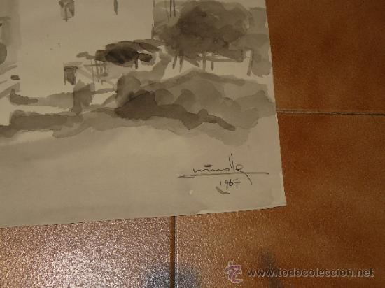 Arte: AGUADA - FIRMADA MIRALLES - SITGES, CASA - 1967 - Foto 3 - 35519758